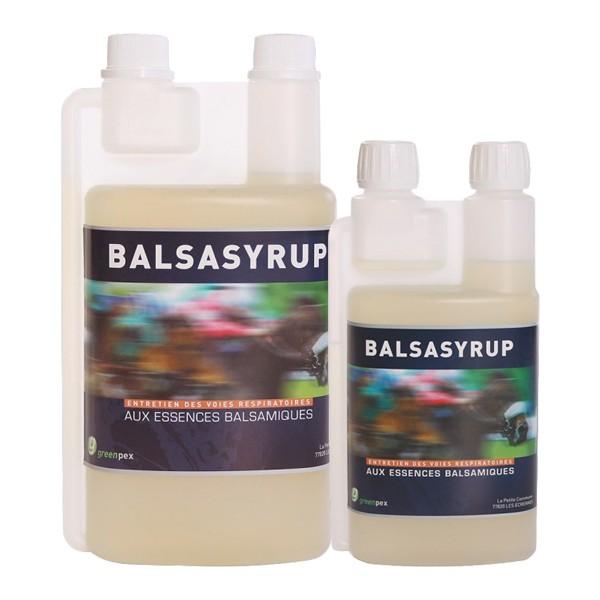 BALSASYRUP en bidon aux essences balsamiques pour le cheval