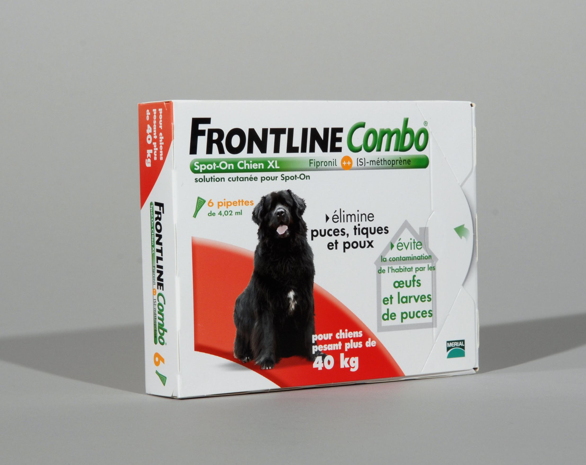 FRONTLINE COMBO CHIEN XL (40-60) contre puce tiques et poux