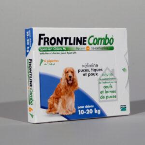 FRONTLINE COMBO CHIEN M (10-20) contre puce tique poux