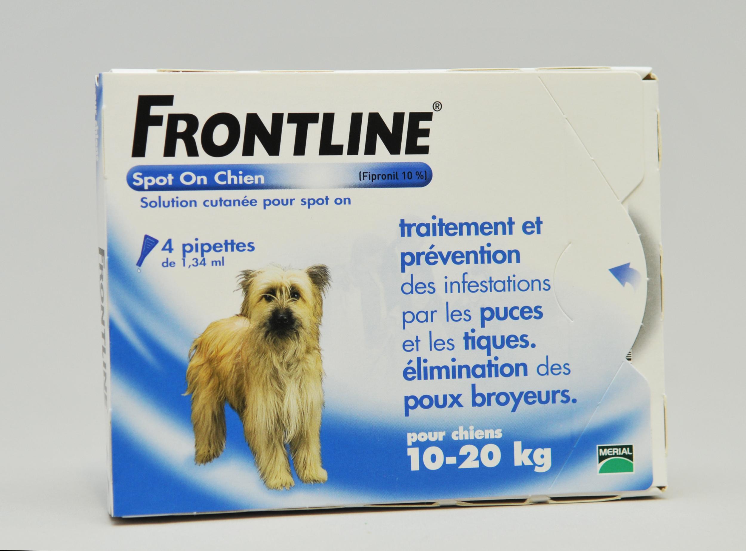FRONTLINE CHIEN M (10-20) prevention puces poux et tiques