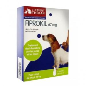 FIPROKIL 67mg CHIEN 2-10KG infections puces et tiques