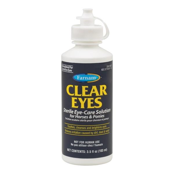 CLEAR EYES pour nettoyer les yeux du cheval ou du poney