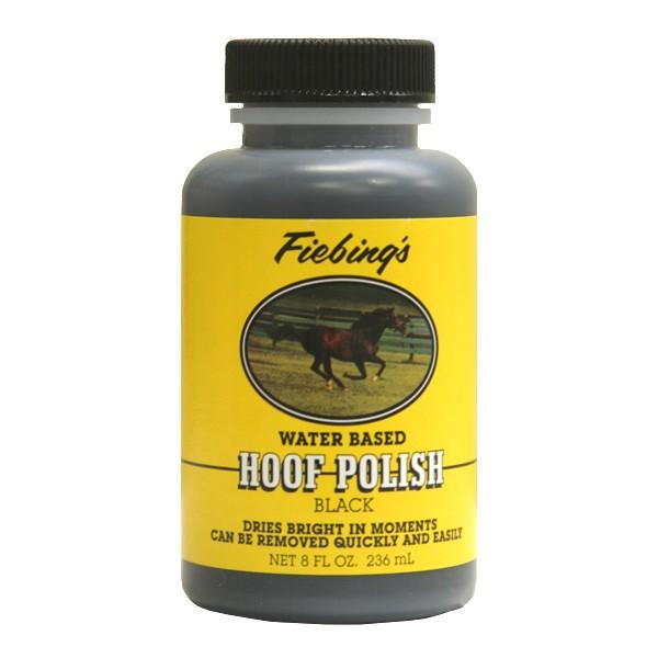 HOOF POLISH BLACK a base d'eau pour cheval
