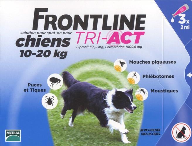 anti phlébotomes frontline tri act chien 10 20 kilos