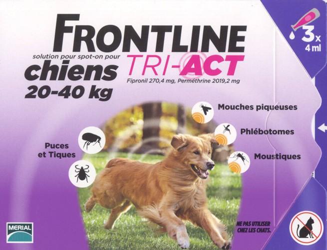 frontline tri act chiens 20 40 kilos anti tiques