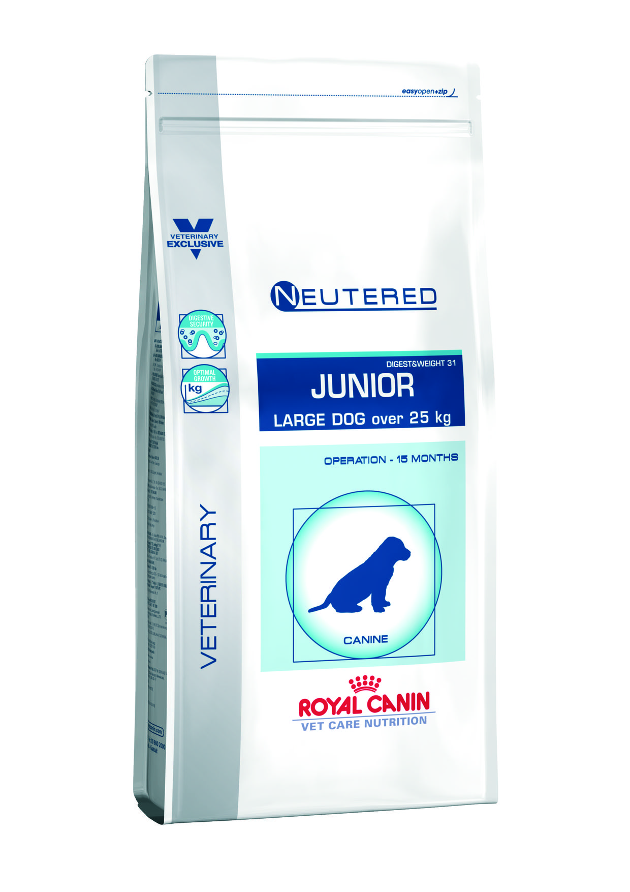 neutered royal canin junio plus de 25 kilos