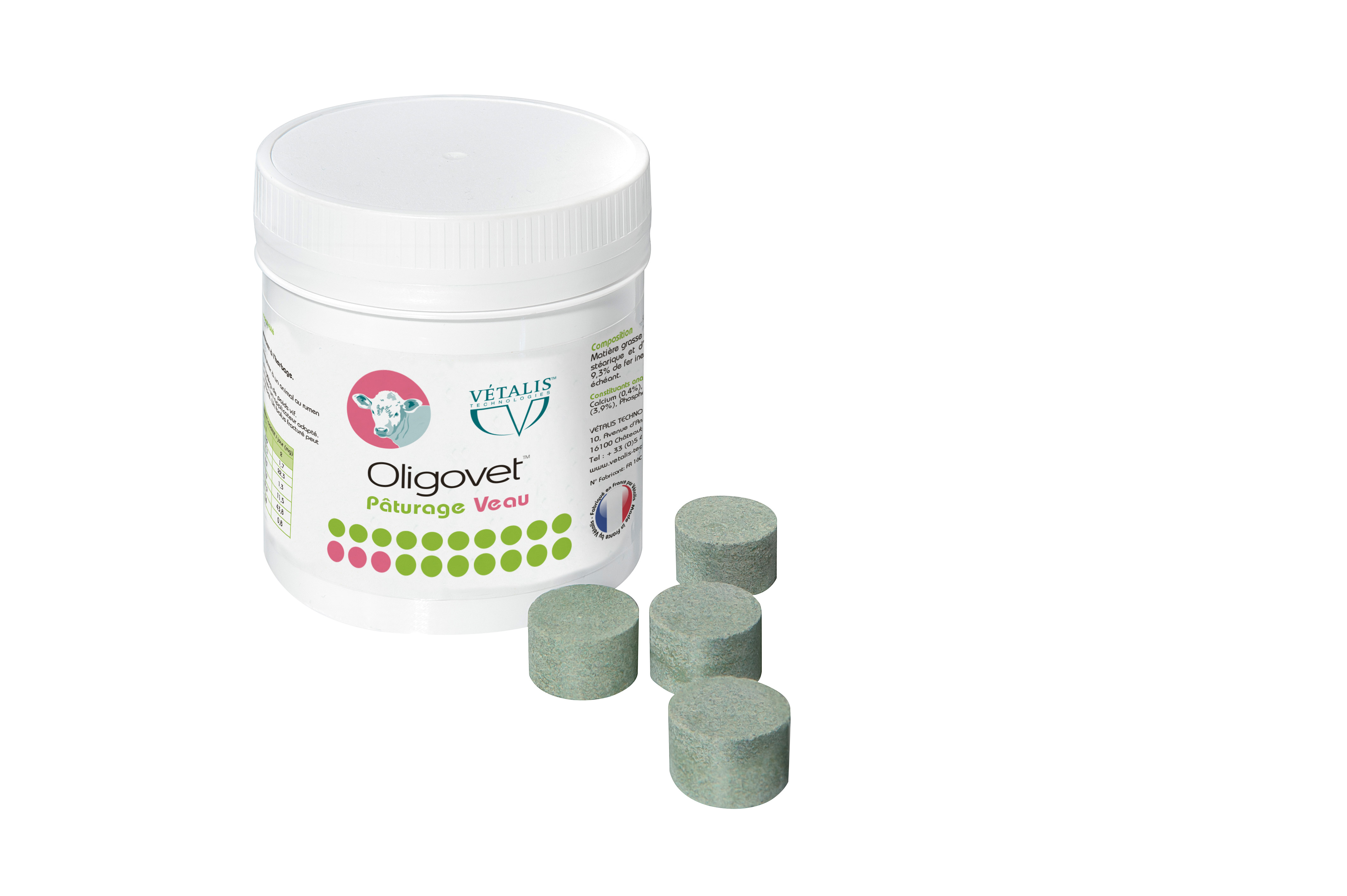 OLIGOVET® Vétalis® pâturage veau boite de 25 bolus vitamines et oligo-éléments