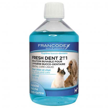 FRESH DENT 2 en 1 chien chat hygiène bucco-dentaire
