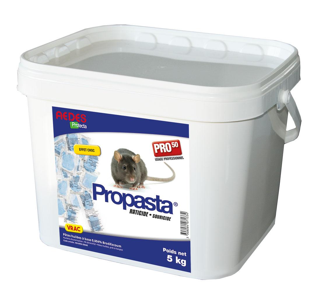 PROPASTA® Protecta® 5 KG raticide rats et souris à usage professionnel