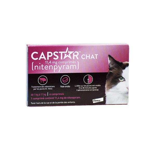 CAPSTAR 11.4 mg bte 6 comprimés anti-puces pour chat